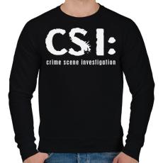 PRINTFASHION csi-1-1-white - Férfi pulóver - Fekete
