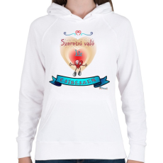 PRINTFASHION Csibész - Női kapucnis pulóver - Fehér