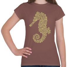 PRINTFASHION Csikóhal - Női póló - Mogyoróbarna