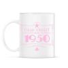 PRINTFASHION csillag-1950-pink - Bögre - Fehér
