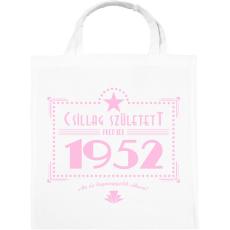 PRINTFASHION csillag-1952-pink - Vászontáska - Fehér