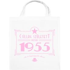 PRINTFASHION csillag-1955-pink - Vászontáska - Fehér