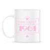 PRINTFASHION csillag-1961-pink - Bögre - Fehér