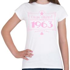 PRINTFASHION csillag-1963-pink - Női póló - Fehér