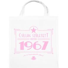 PRINTFASHION csillag-1967-pink - Vászontáska - Fehér