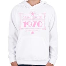 PRINTFASHION csillag-1970-pink - Gyerek kapucnis pulóver - Fehér
