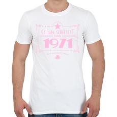PRINTFASHION csillag-1971-pink - Férfi póló - Fehér
