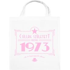 PRINTFASHION csillag-1973-pink - Vászontáska - Fehér