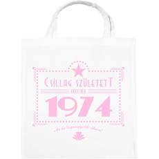 PRINTFASHION csillag-1974-pink - Vászontáska - Fehér