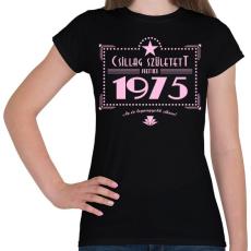 PRINTFASHION csillag-1975-pink - Női póló - Fekete