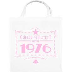 PRINTFASHION csillag-1976-pink - Vászontáska - Fehér