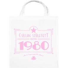 PRINTFASHION csillag-1980-pink - Vászontáska - Fehér