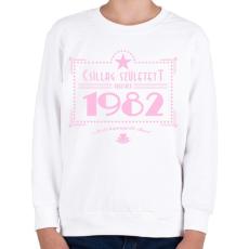 PRINTFASHION csillag-1982-pink - Gyerek pulóver - Fehér