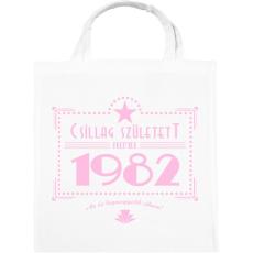 PRINTFASHION csillag-1982-pink - Vászontáska - Fehér