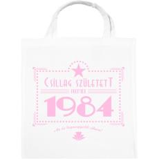 PRINTFASHION csillag-1984-pink - Vászontáska - Fehér