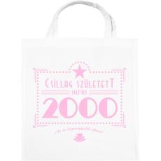 PRINTFASHION csillag-2000-pink - Vászontáska - Fehér