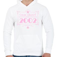 PRINTFASHION csillag-2002-pink - Férfi kapucnis pulóver - Fehér