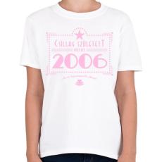 PRINTFASHION csillag-2006-pink - Gyerek póló - Fehér