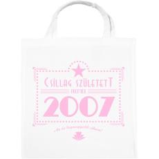 PRINTFASHION csillag-2007-pink - Vászontáska - Fehér