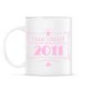 PRINTFASHION csillag-2011-pink - Bögre - Fehér
