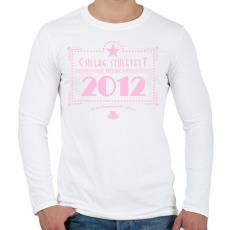 PRINTFASHION csillag-2012-pink - Férfi hosszú ujjú póló - Fehér