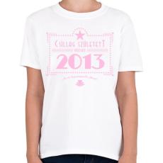 PRINTFASHION csillag-2013-pink - Gyerek póló - Fehér
