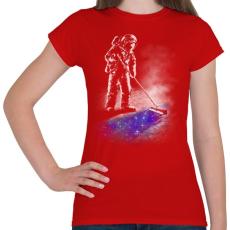 PRINTFASHION Csillagpor - Női póló - Piros