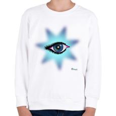 PRINTFASHION Csillagszem - Gyerek pulóver - Fehér