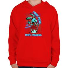 PRINTFASHION Csodabogár ital - Gyerek kapucnis pulóver - Piros