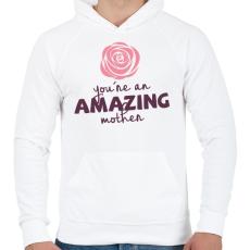 PRINTFASHION Csodálatos Anya - Férfi kapucnis pulóver - Fehér