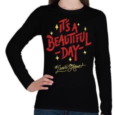 PRINTFASHION Csodálatos nap - Női hosszú ujjú póló - Fekete