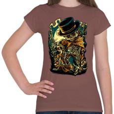 PRINTFASHION Csont bandita - Női póló - Mogyoróbarna