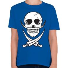 PRINTFASHION Csontbajusz - Gyerek póló - Királykék