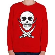 PRINTFASHION Csontbajusz - Gyerek pulóver - Piros