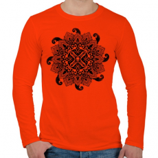 PRINTFASHION Cthulhu hívása - Férfi hosszú ujjú póló - Narancs