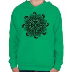 PRINTFASHION Cthulhu hívása - Gyerek kapucnis pulóver - Zöld