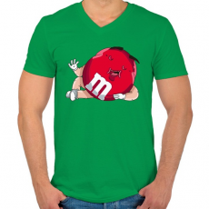 PRINTFASHION Cukorka - Férfi V-nyakú póló - Zöld