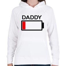 PRINTFASHION DADDY - Női kapucnis pulóver - Fehér
