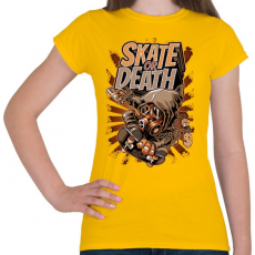 PRINTFASHION Deszka vagy halál - Női póló - Sárga
