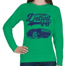 PRINTFASHION Detroit V8 - Női pulóver - Zöld