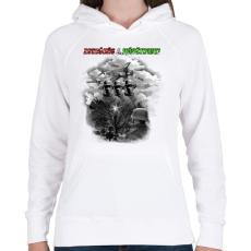 PRINTFASHION Dicsőség a Hősöknek!  - Női kapucnis pulóver - Fehér
