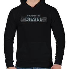 PRINTFASHION Diesel - Férfi kapucnis pulóver - Fekete