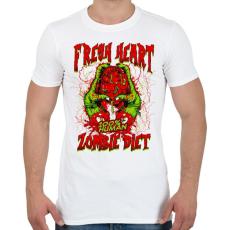 PRINTFASHION Diétázó zombi - Férfi póló - Fehér