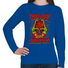PRINTFASHION Diétázó zombi - Női pulóver - Királykék