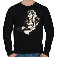 PRINTFASHION DJ - Férfi pulóver - Fekete