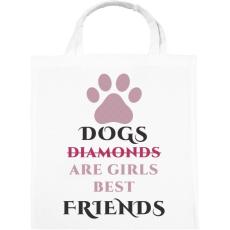 PRINTFASHION Dog best friend - Vászontáska - Fehér