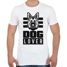 PRINTFASHION Dog Lover - Férfi póló - Fehér