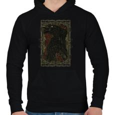 PRINTFASHION Döglött varjú - Férfi kapucnis pulóver - Fekete