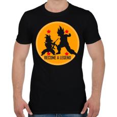PRINTFASHION Dragon Ball - Légy Legenda! - Férfi póló - Fekete