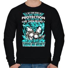 PRINTFASHION Dragonball - Bölcsesség - Férfi pulóver - Fekete